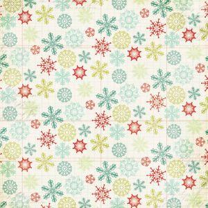 Scrapbooková čtvrtka Mistletoe Magic Snowflakes
