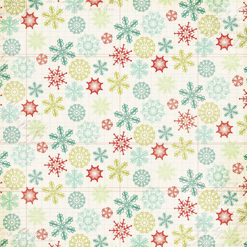 Scrapbooková čtvrtka Mistletoe Magic Snowflakes My Mind´s Eye