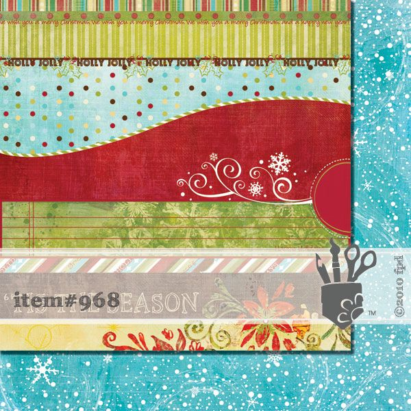 Scrapbooková čtvrtka Tradition Strips Fancy Pants