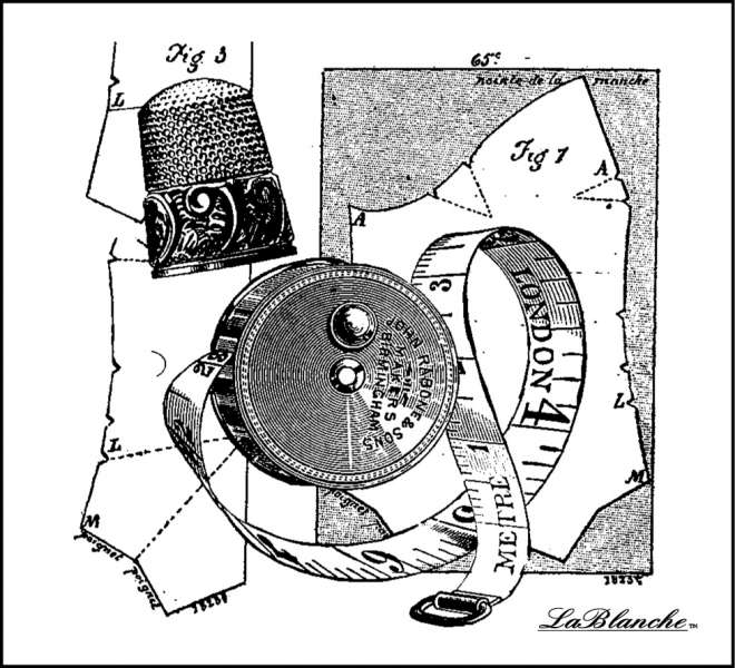 Sewing Collection - Razítko na bílé pěně, výrobce LaBlanche, scrapbooking