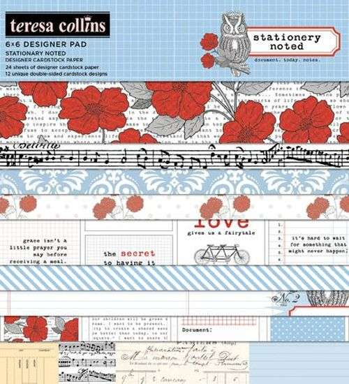 Stationary Noted: 6x6 Pad Teresa Collins