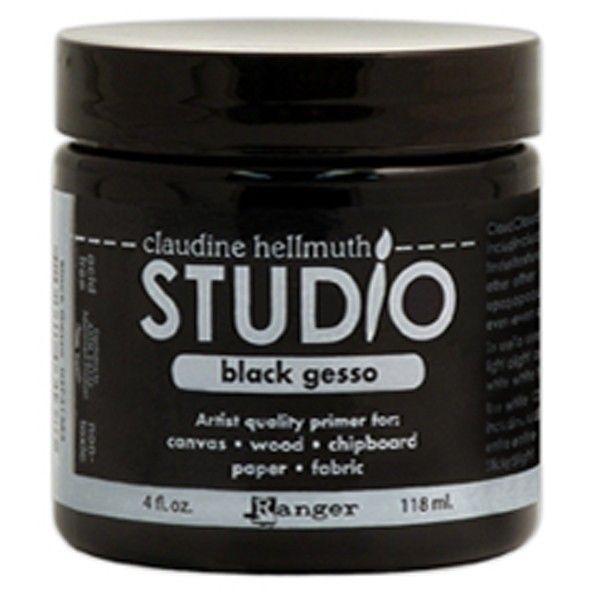 Studio gesso černé 118ml od Claudie Hellmuth, ideální na mixed-media Ranger