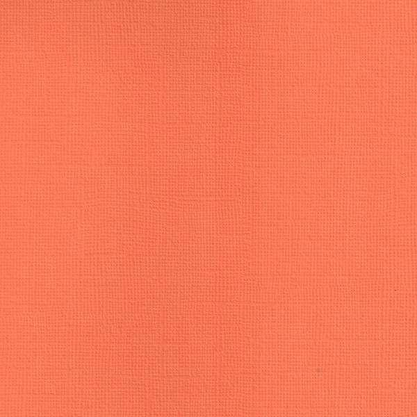 Texturovaná čtvrtka - papír na scrapbooking Basic Mandarinka Ursus