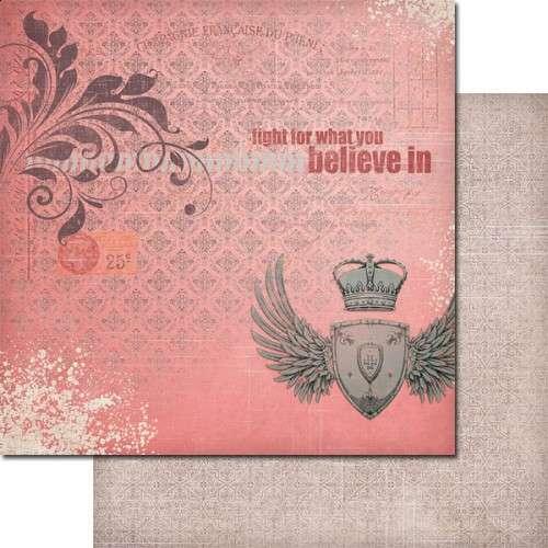The Queen's Heart - For a Reason - Scrapbooková čtvrtka od 7 Dots Studio vhodná pro scrapbooking a cardmaking