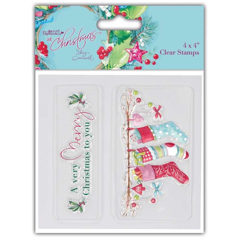 Transparentní razítko Lucy Cromwell At Christmas - Punčochy Papermania