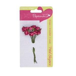 Kytice růžiček DEEP PINK ROSE Papermania