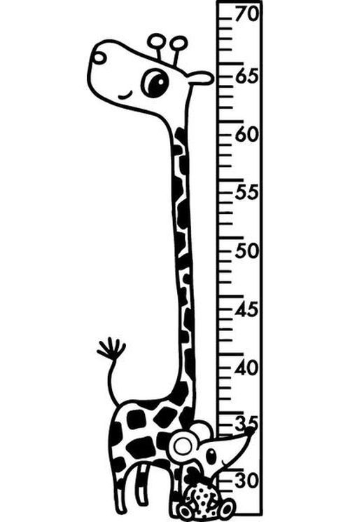 Aladine Dřevěné razítko, velikost E, ŽIRAFOVÝ METR