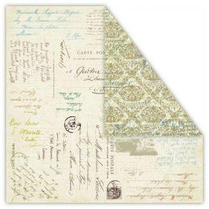 Oboustranný papír na scrapbook Gaj Oliwny - Focaccia