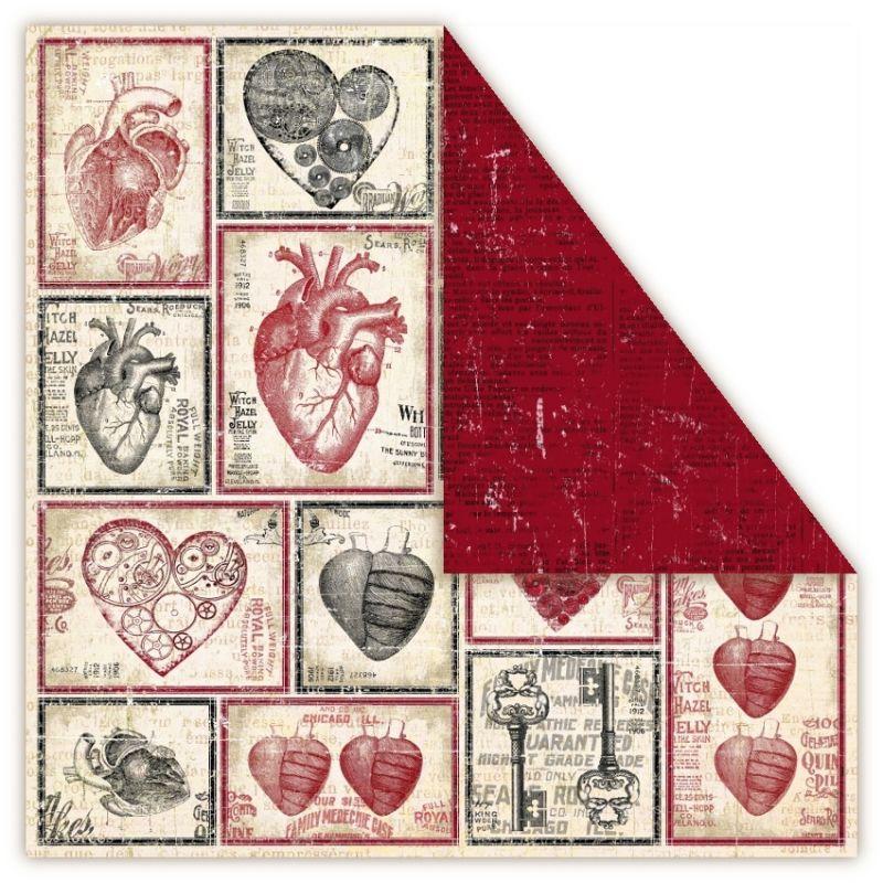 Čtvrtka na scrapbook, oboustranná, z kolekce Holmes in Love - Valentine UHK Gallery
