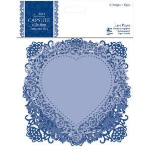 Krajkové papírové výřezy (12ks) Capsule - Parisienne Blue