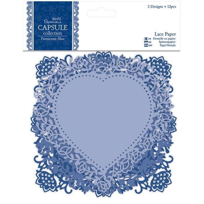 Krajkové papírové výřezy (12ks) Capsule - Parisienne Blue Papermania