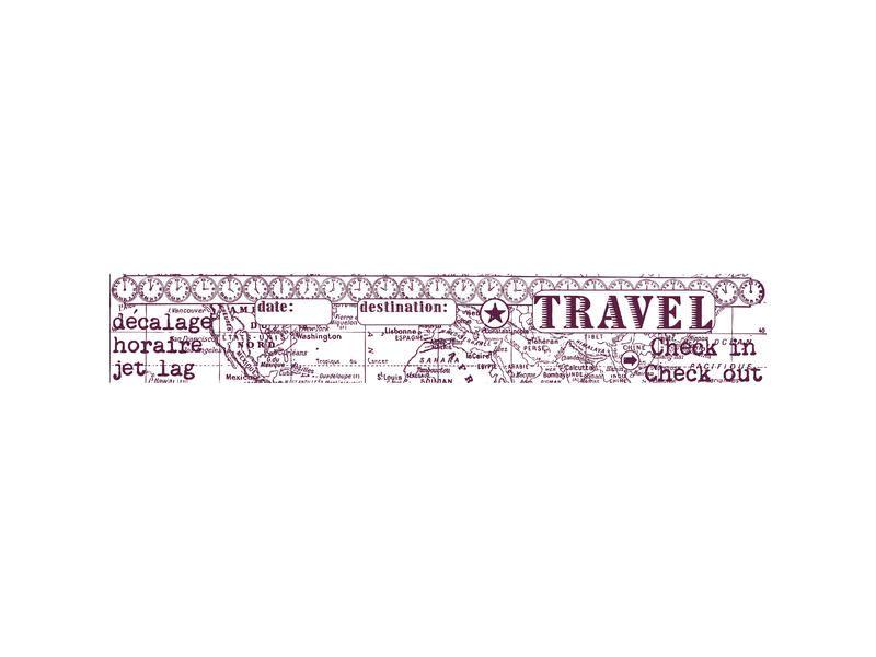 MAXI Stamp od Aladine, razítko na celou scrapbookovou stránku, vleikost 30x5 cm Cesty