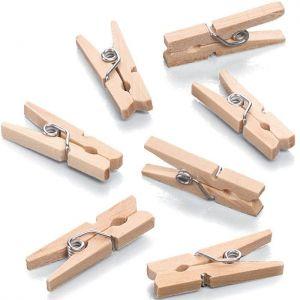 Mini dřevěné kolíčky 25x7mm (10ks)