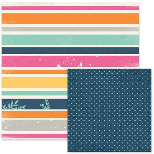 Oboustranný papír na scrapbook 1ks Striped WeR Memory Keepers
