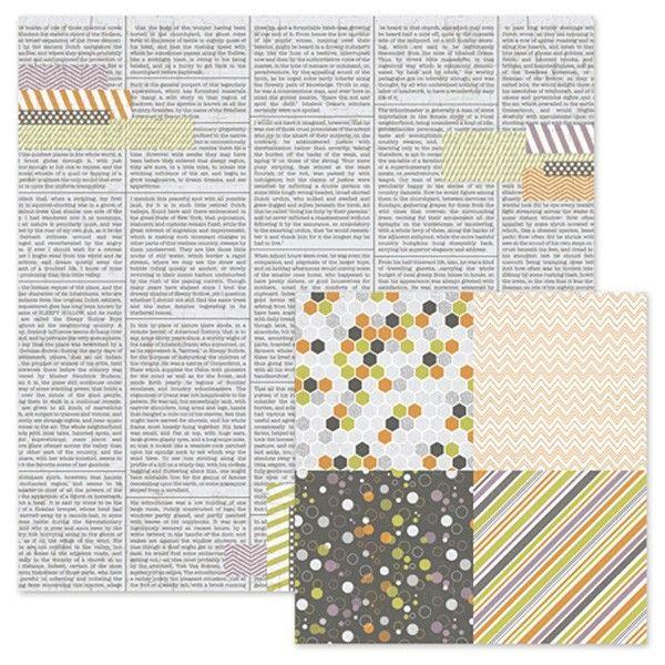 Oboustranný papír na scrapbook Newsprint WeR Memory Keepers
