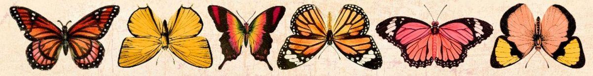 Oboustranný Papírový pásek - motýli Tropical UHK Gallery