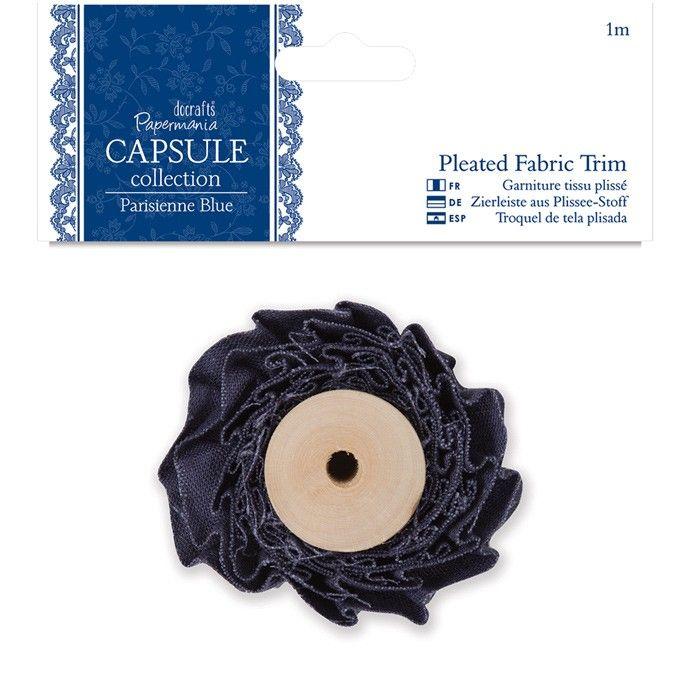 Plisovaná stuha 1m Capsule - Parisienne Blue Design Objectives