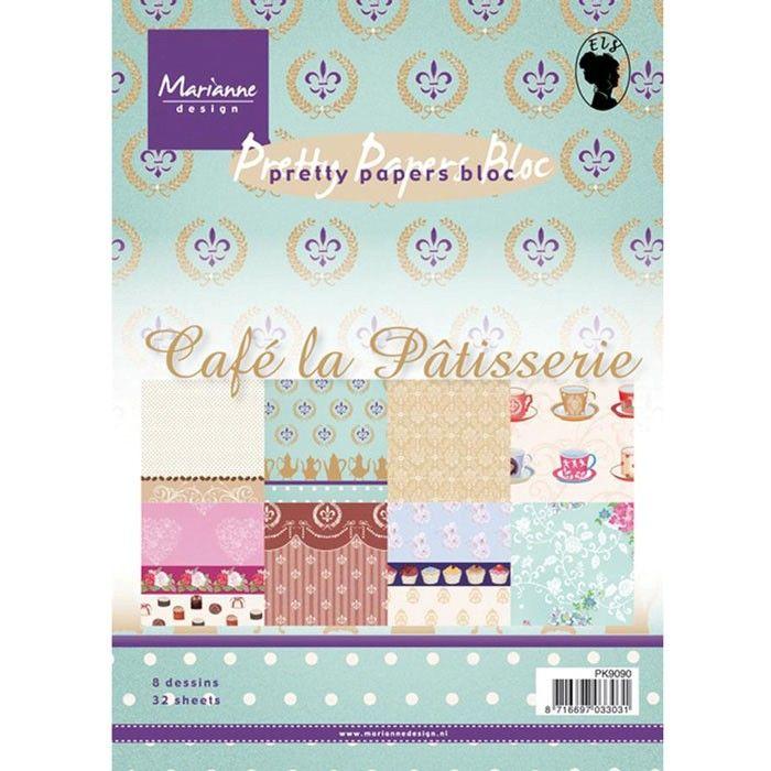 Sada papírů na scrapbooking Marianne Design - Café La Patisserie, A5 - 8 ks