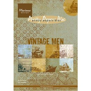 Marianne Design - Vintage Men, A5 - 8 ks