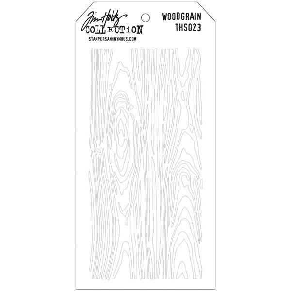 Scrapbooková šablona by Tim Holtz - Dřevo, 17x8,5 cm Dutch Doobadoo