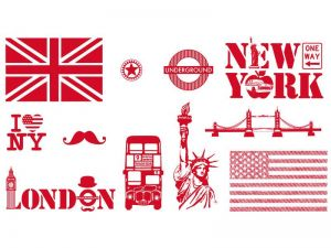 STAMPO TEXTILE, LONDÝN - NEW YORK, 11 ks Aladine