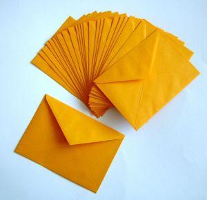 Žluté obálky ... 25 ks