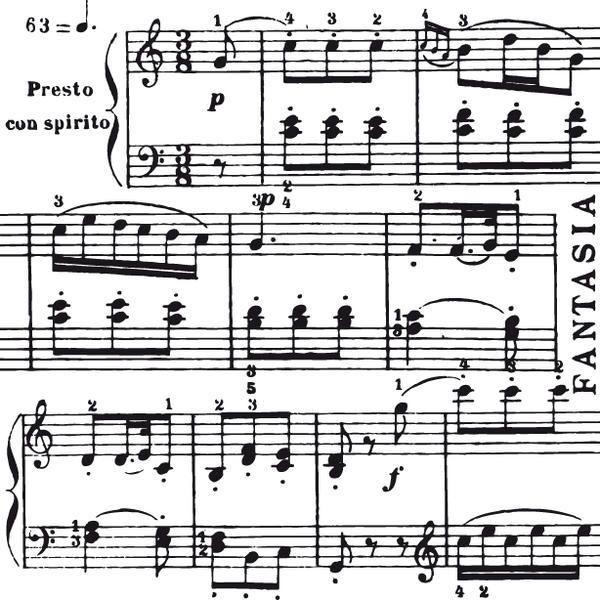 Aladine Dřevěné razítko, velikost F, Partitura