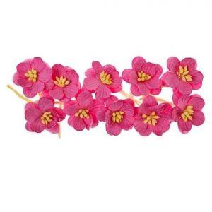 Dekorační třešňové květy (10ks) růžové