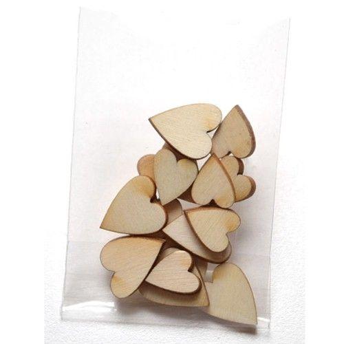 Dřevěné výřezy srdíčka - sada k zdobení i dozdobení pro přání a scrapbooking