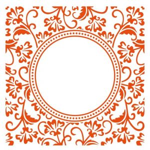 Embosovací kapsa 15x15cm kruh s ornamenty