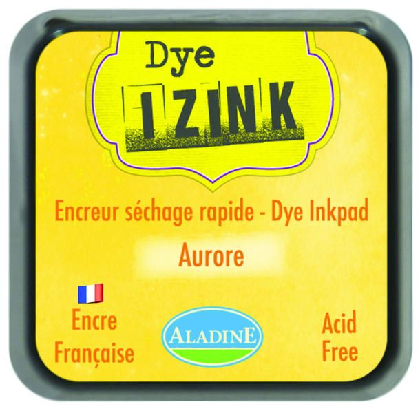 Inkoust IZINK, rychleschnoucí - žlutá Aladine