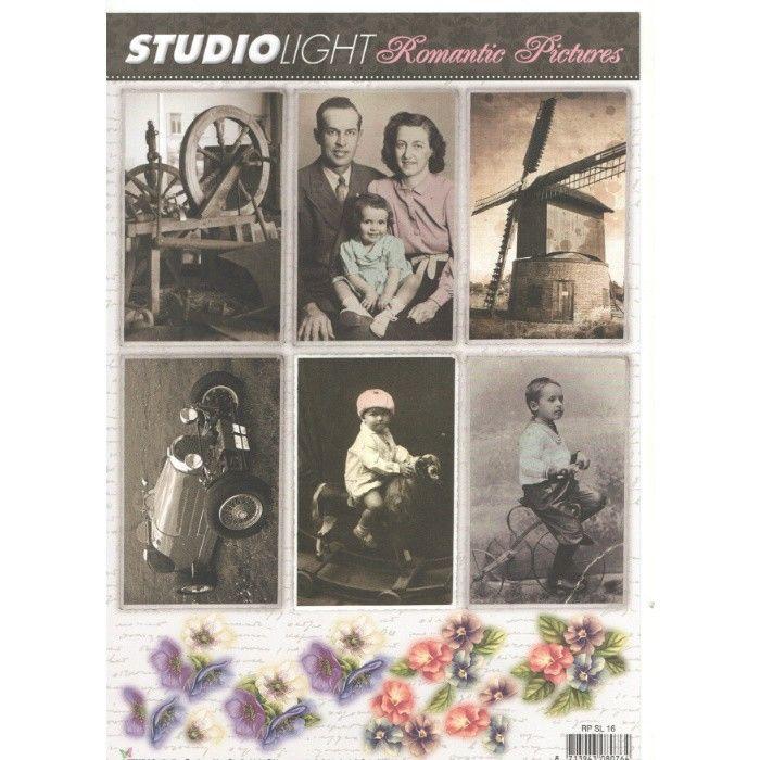 List A4 s obrázky Romantic Pictures č.16 STUDIO LIGHT