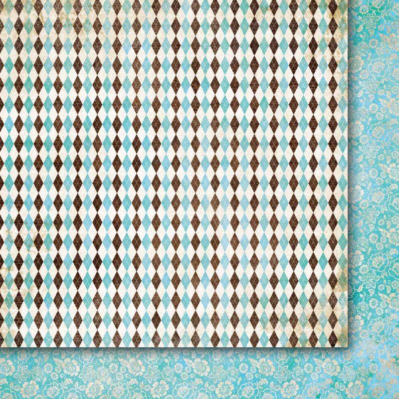 Oboustarnný papír - čtvrtka na scrapbooking A Beautiful Mind 03 Galeria Papieru