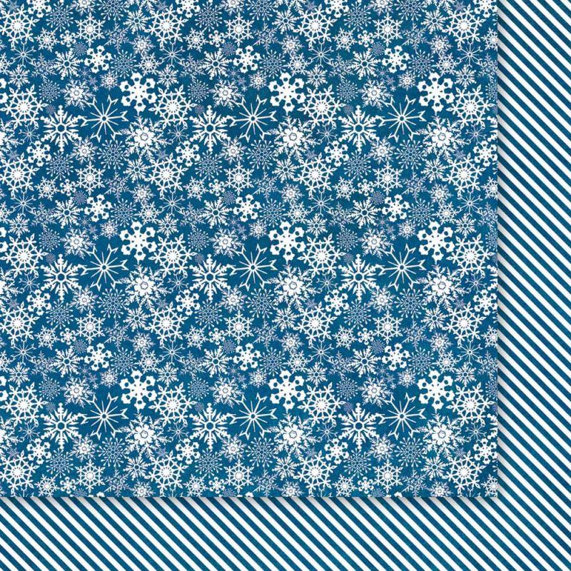 Oboustarnný papír - čtvrtka na scrapbooking Christmas Star 02 Galeria Papieru