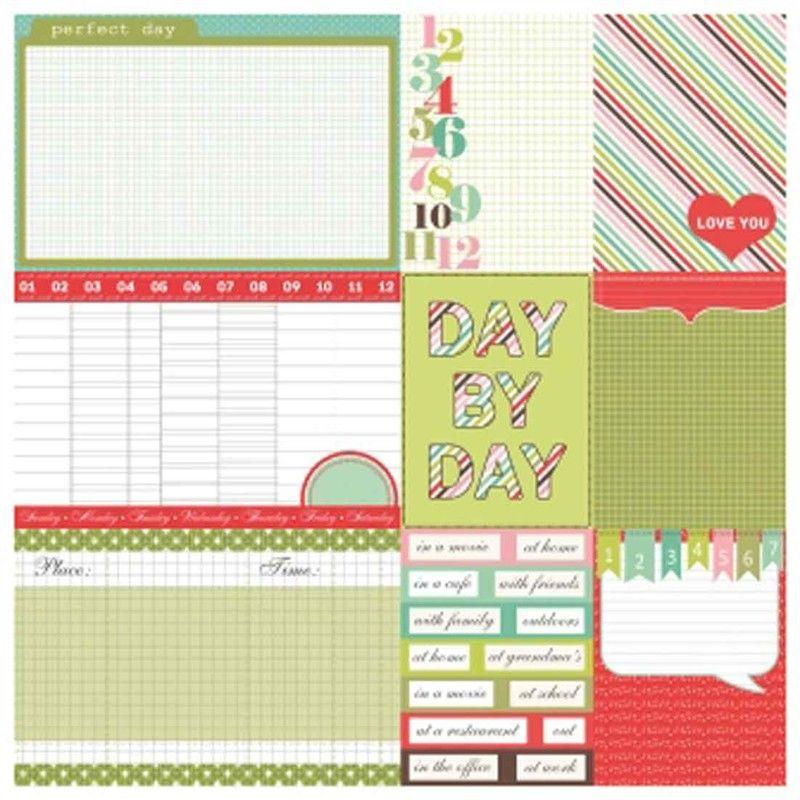 Oboustranný papír na scrapbook (1ks) Everyday Daily Life SCRAPBERRYS