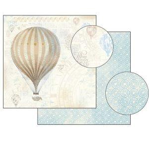Oboustranný papír na scrapbook Balón