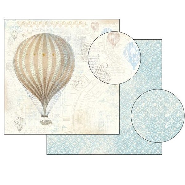 Oboustranný papír na scrapbook Balón STAMPERIA