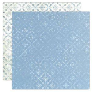 Oboustranný papír na scrapbook Modré kosočtverce