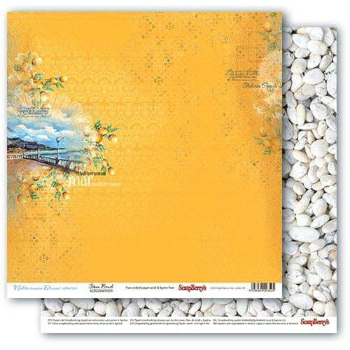 Oboustranný papír na scrapbook ScrapBerry´s Stone Beach vyšší gramáže 190 gsm SCRAPBERRYS