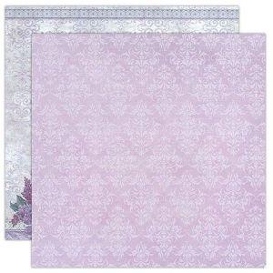 Oboustranný papír na scrapbook Textura a kytice (1ks)