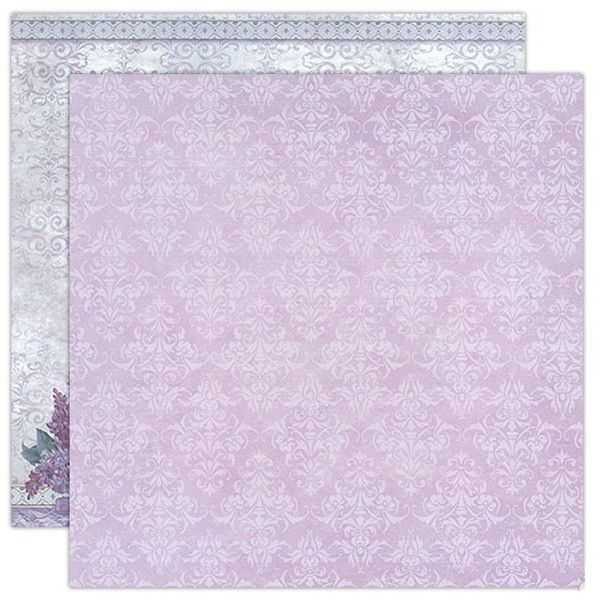 Oboustranný papír na scrapbook Textura a kytice (1ks) STAMPERIA