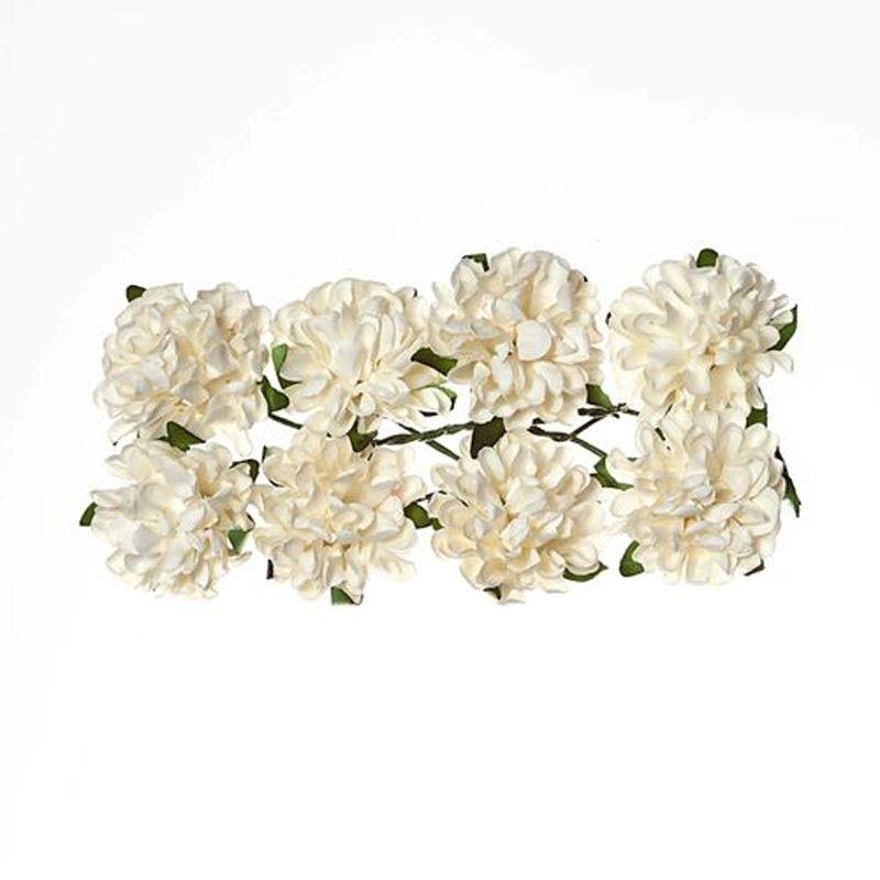 Papírové pampelišky (8ks) bílé SCRAPBERRYS