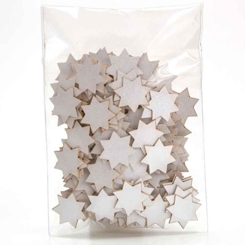 Papírové výřezy hvězdičky stříbrné 1x1cm, strojový mix - sada k zdobení i dozdobení pro přání a scrapbooking