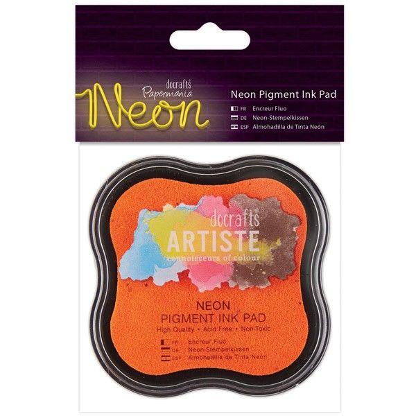 Razítkovací polštářek pigmentový neonový - oranžový ARTISTE