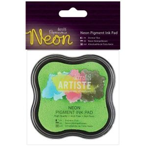 Razítkovací polštářek pigmentový neonový - zelený