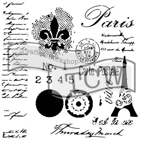 """Šablona 6""""x6"""" , Carte postale, mini TCW"""