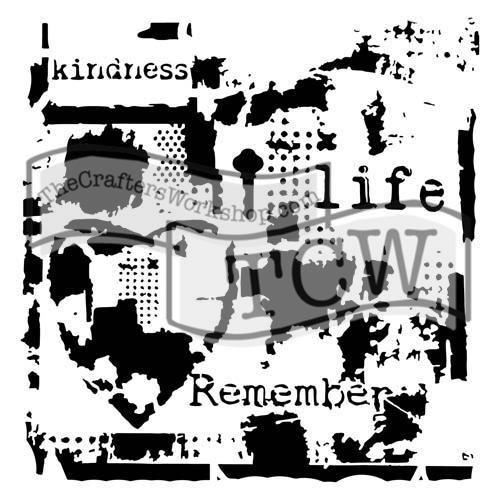 """Šablona 6""""x6"""" , Life remembered, mini TCW"""