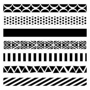 """Šablona 6""""x6"""" , Pattern Strips, mini"""