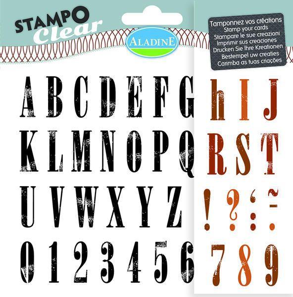 Sada gelových razítek od francozské firmy Aladine StampoClear, Abeceda Standfort