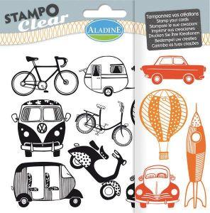 Silikonová razítka StampoClear, Dopravní prostředky